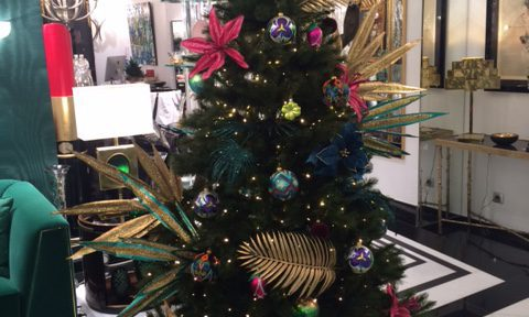 TROPICAL CHRISTMAS TREE BY ROMEO ROYAL GALLERY